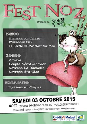 Fest noz niort le 3 octobre 2015 tamm kreiz for Parc des expositions niort