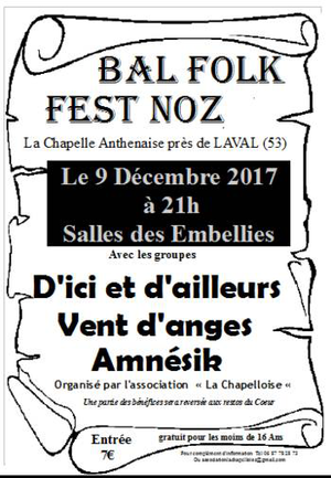 Fest-Noz/Bal folk à La Chapelle Anthenaise
